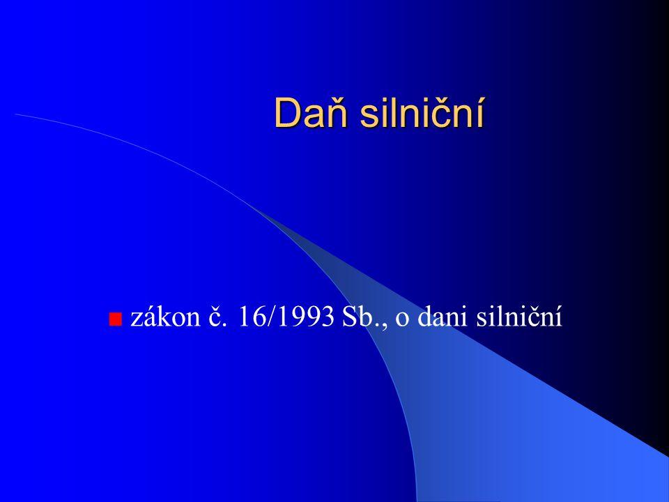 zákon č. 16/1993 Sb., o dani silniční
