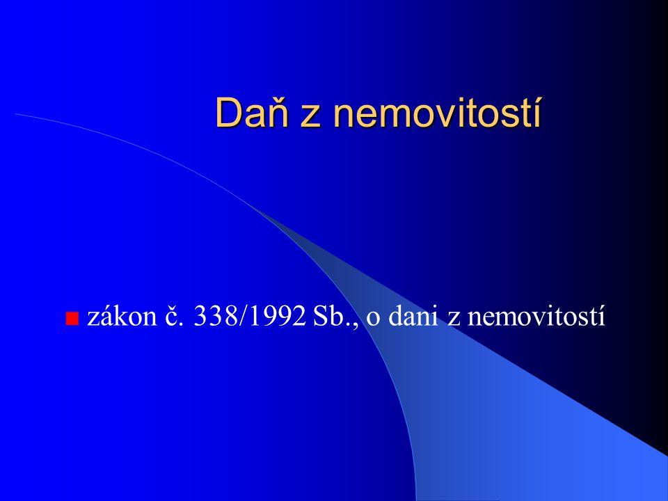 zákon č. 338/1992 Sb., o dani z nemovitostí