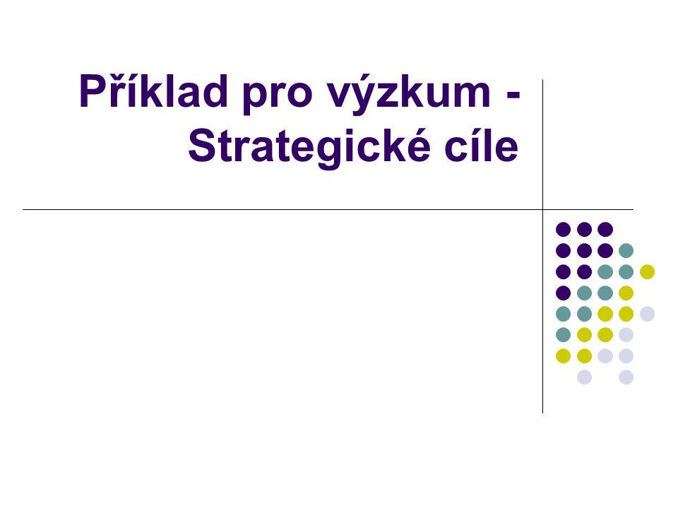 Příklad pro výzkum - Strategické cíle