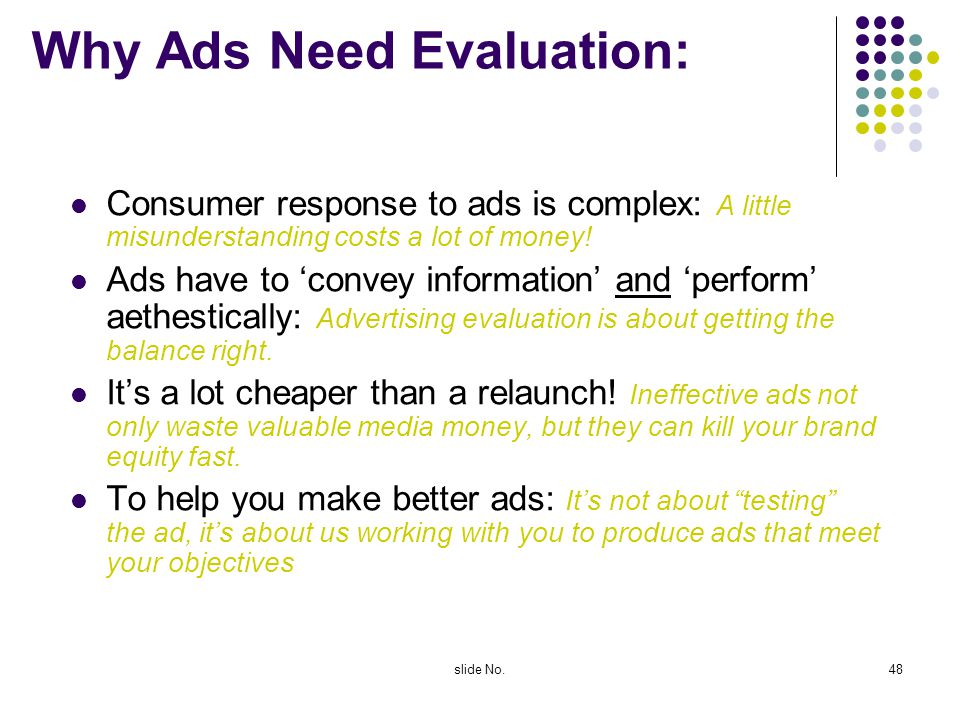 Why Ads Need Evaluation: