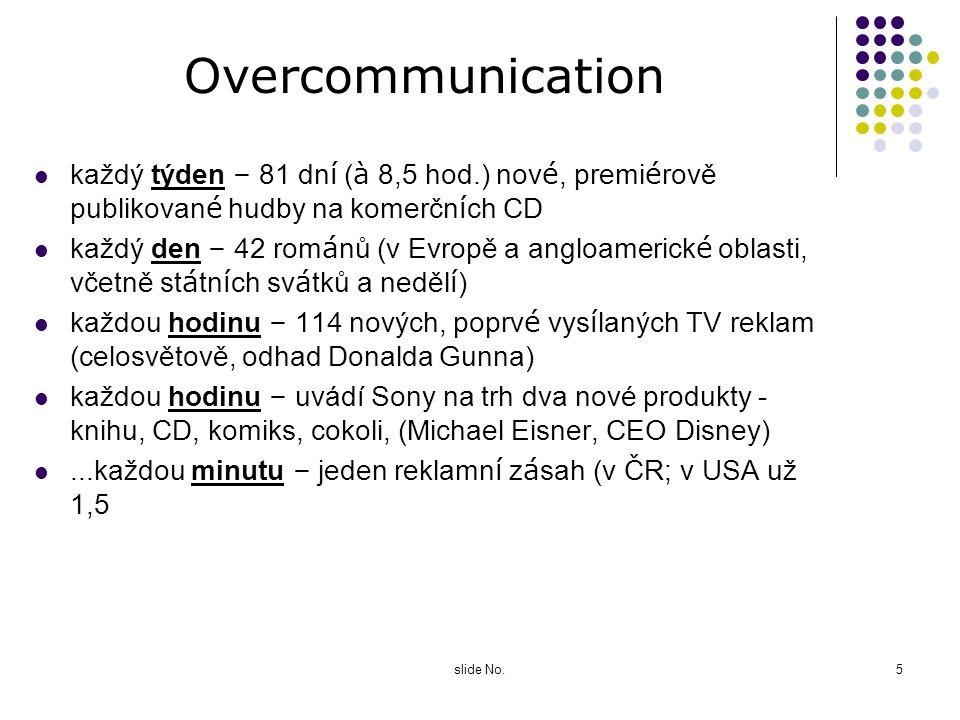 Overcommunication každý týden – 81 dní (à 8,5 hod.) nové, premiérově publikované hudby na komerčních CD.