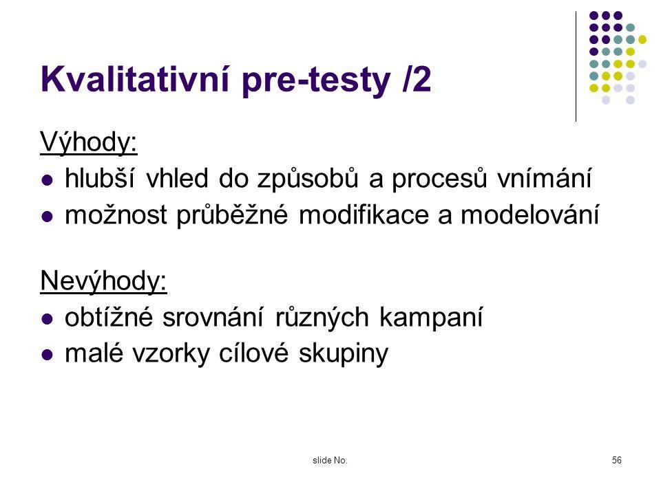 Kvalitativní pre-testy /2