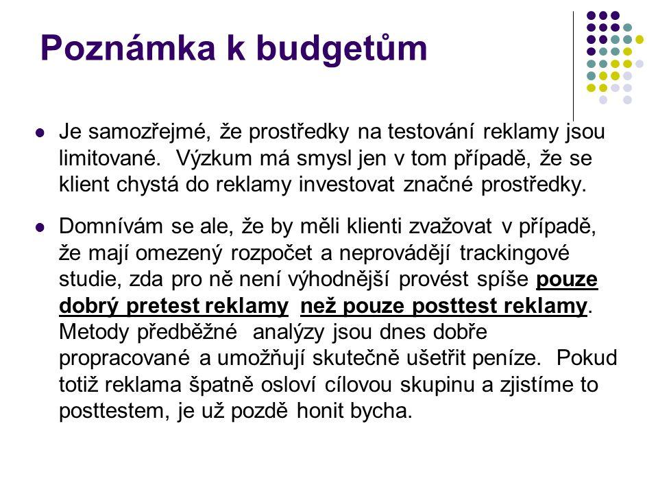 Poznámka k budgetům