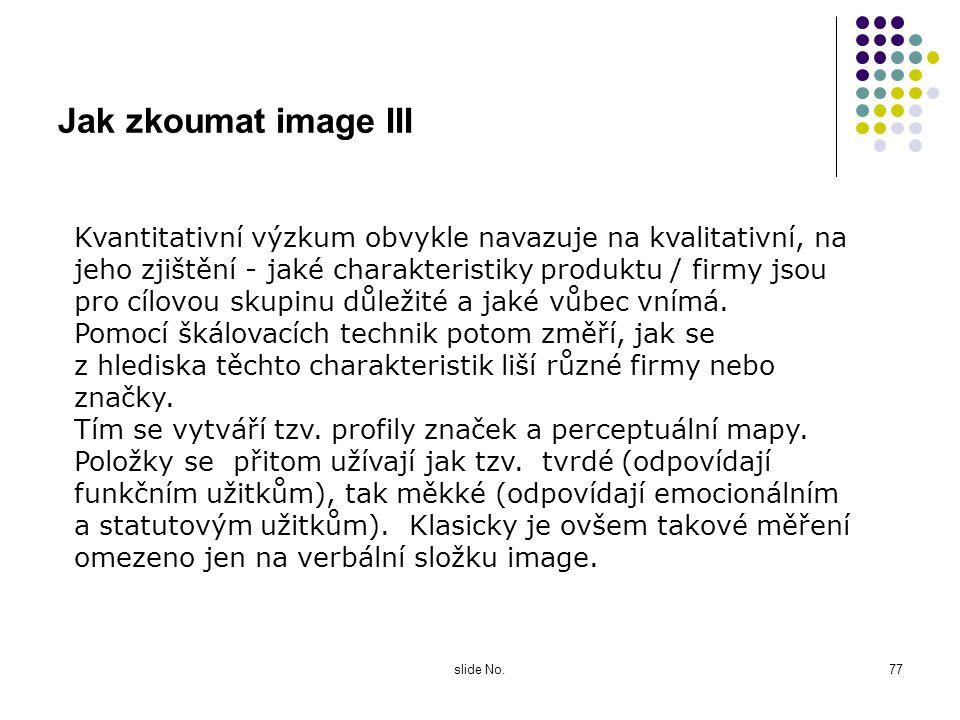 Jak zkoumat image III