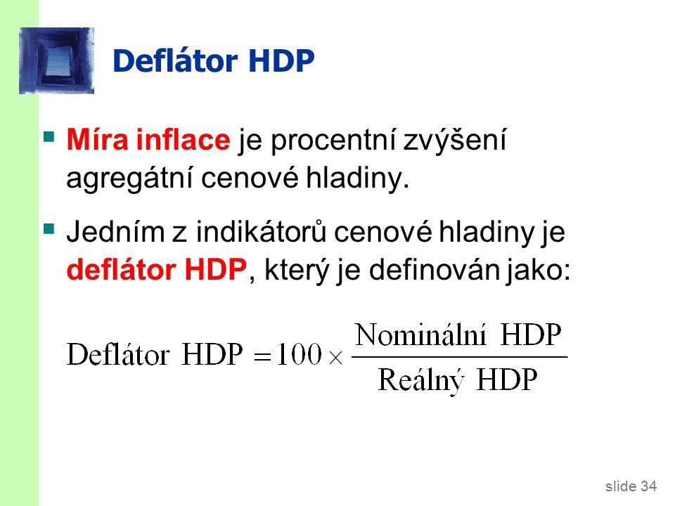 Příklad Nom. HDP. Real HDP. GDP deflátor. Míra inflace. 2006. $46,200. n.a. 2007. 51,400. 50,000.