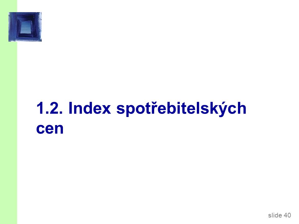 Index spotřebitelských cen (CPI)
