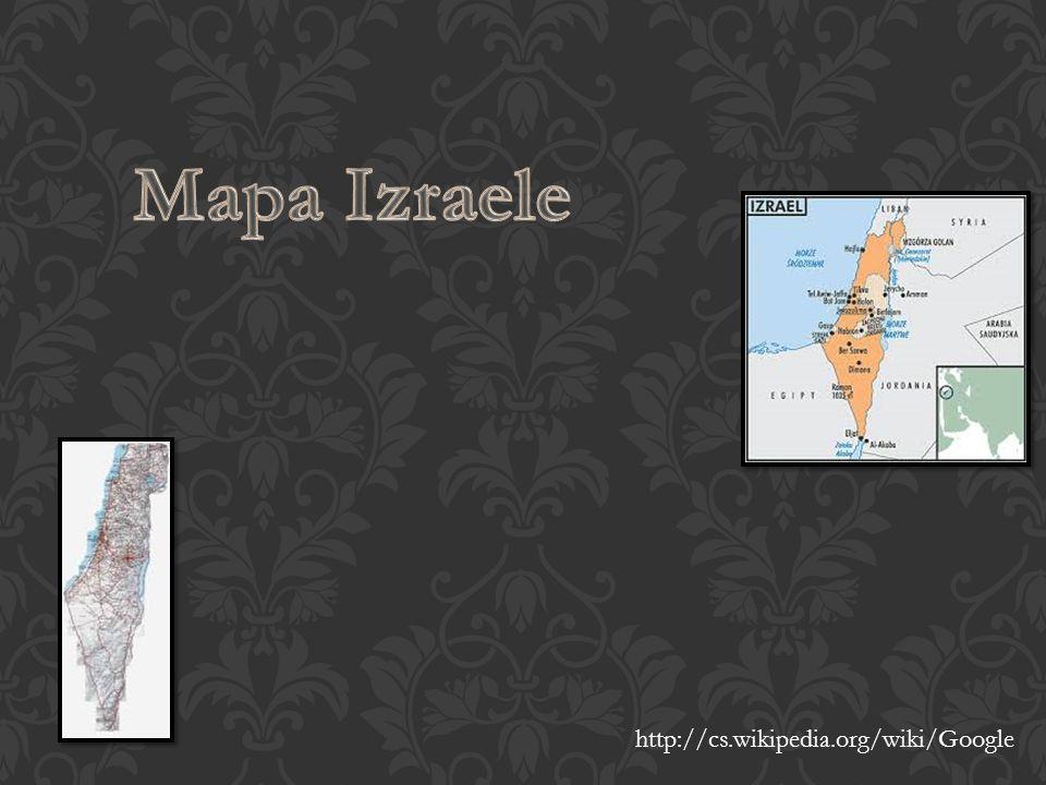 Mapa Izraele http://cs.wikipedia.org/wiki/Google