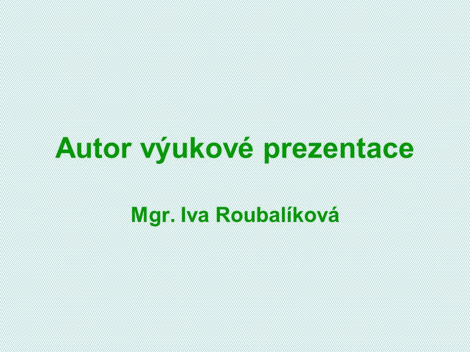 Autor výukové prezentace