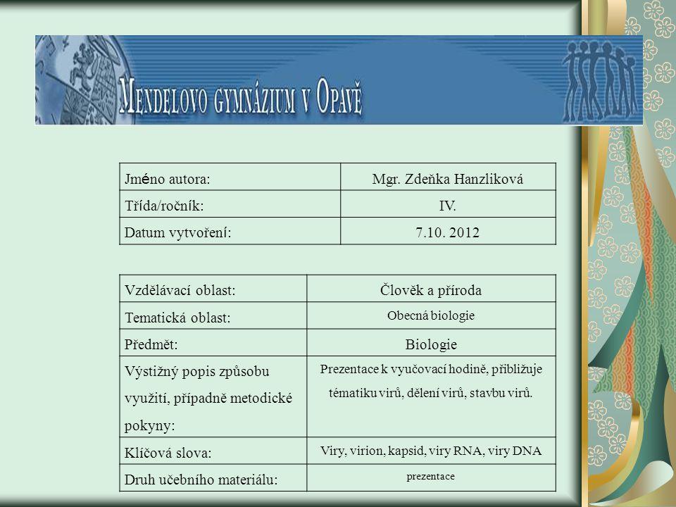 Viry, virion, kapsid, viry RNA, viry DNA