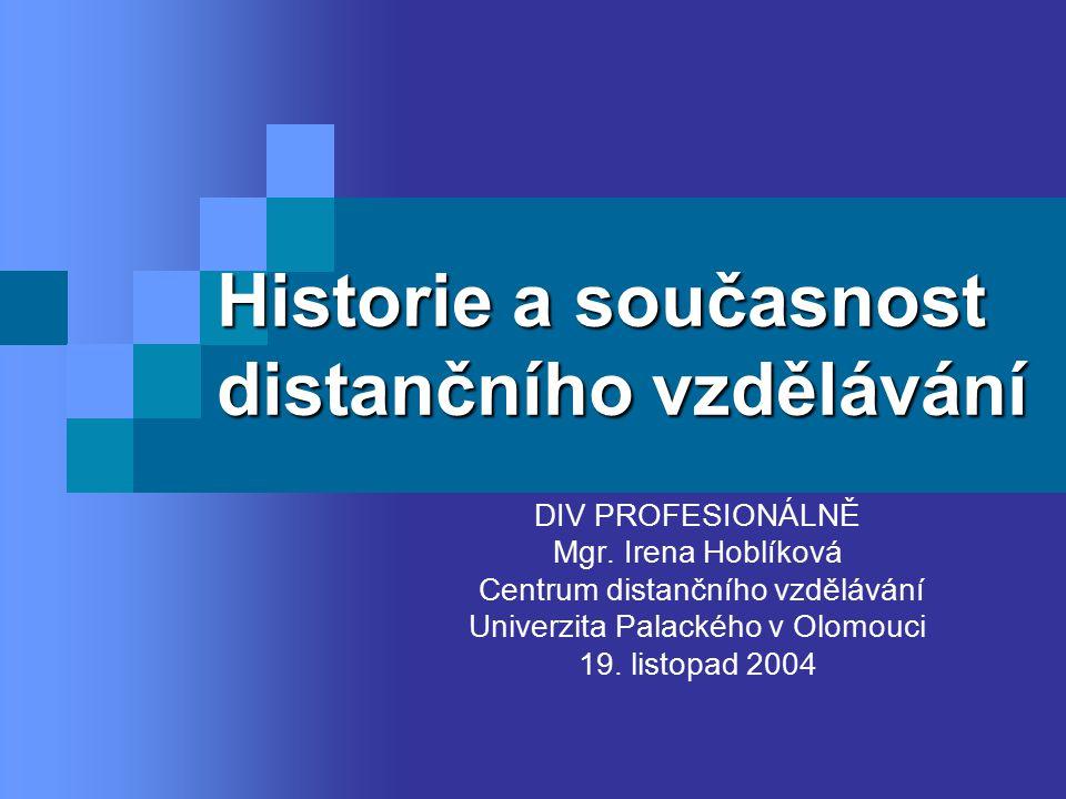 Historie a současnost distančního vzdělávání