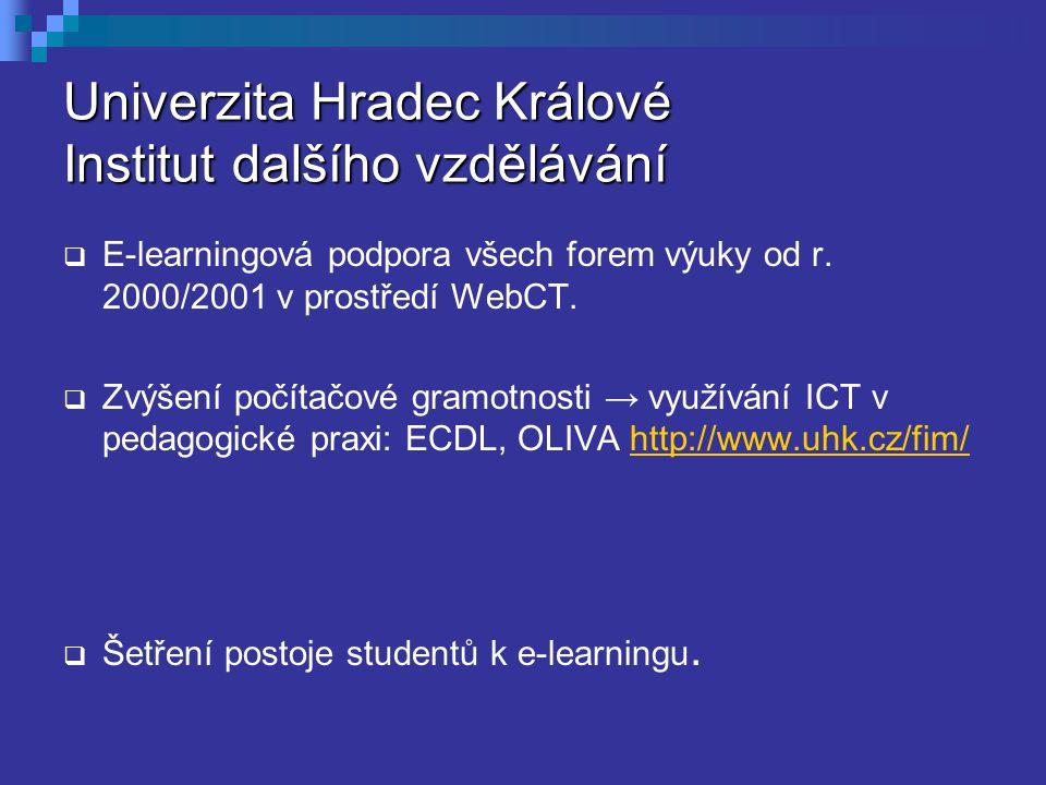 Univerzita Hradec Králové Institut dalšího vzdělávání