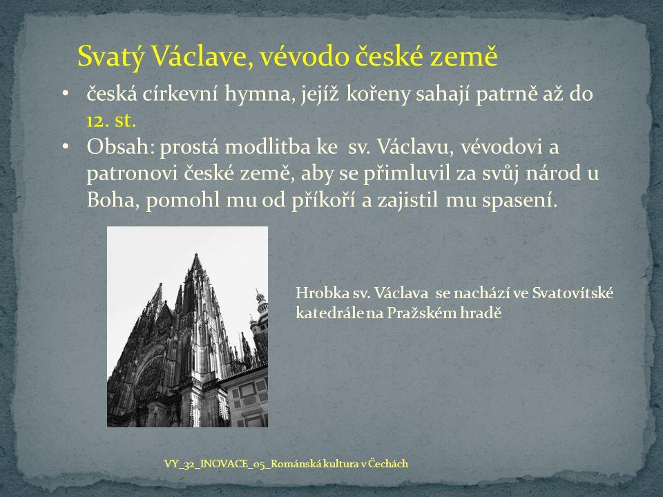 Svatý Václave, vévodo české země