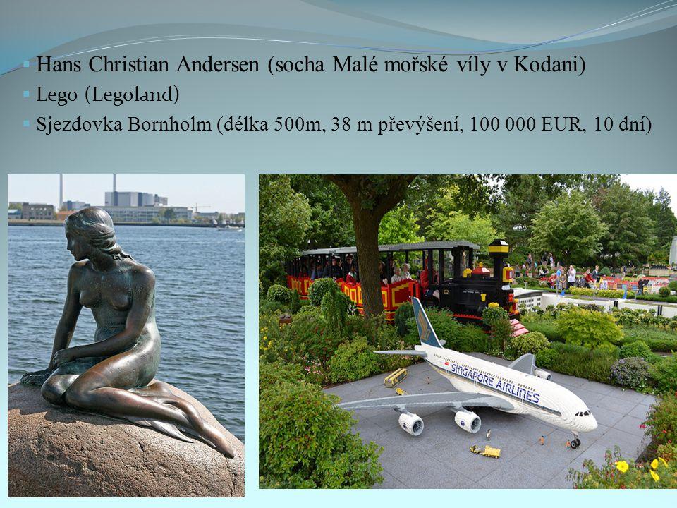 Hans Christian Andersen (socha Malé mořské víly v Kodani)