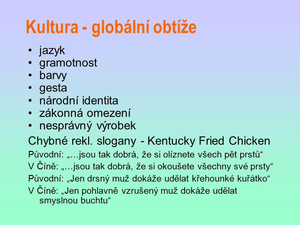 Kultura - globální obtíže