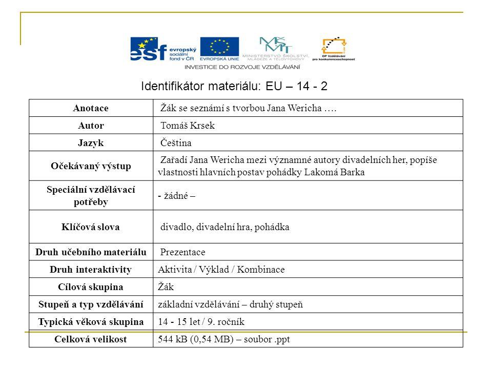 Identifikátor materiálu: EU – 14 - 2
