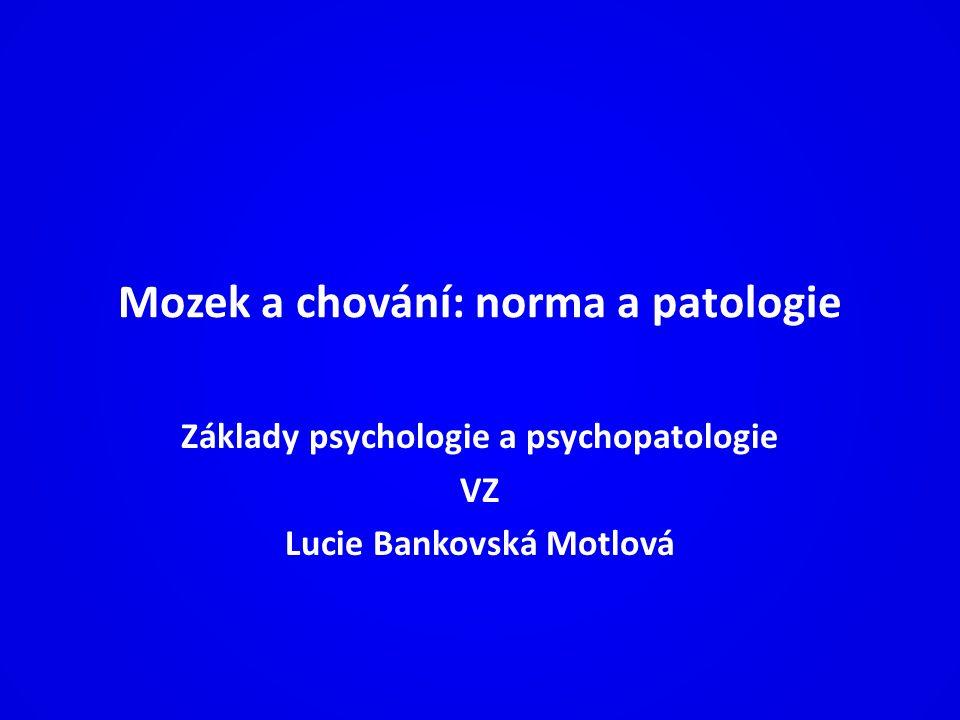 Mozek a chování: norma a patologie