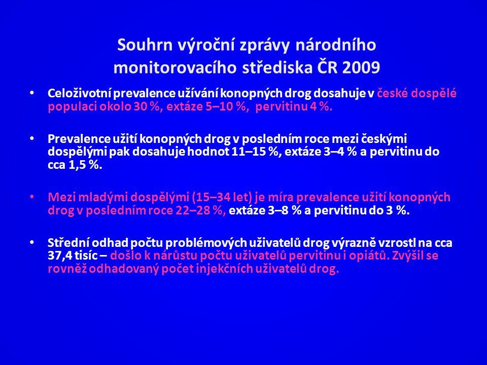 Souhrn výroční zprávy národního monitorovacího střediska ČR 2009