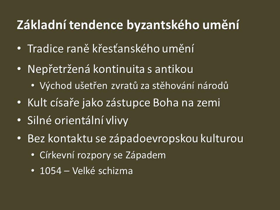 Základní tendence byzantského umění