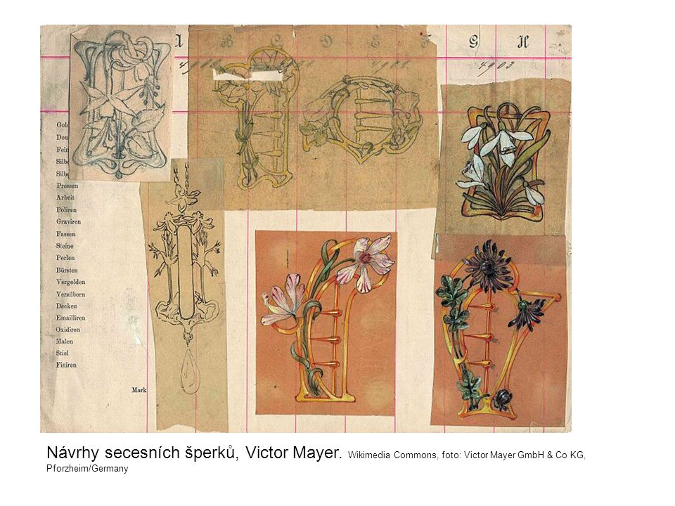 Návrhy secesních šperků, Victor Mayer