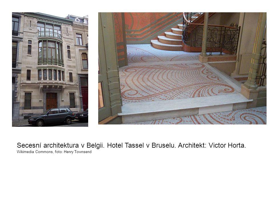 Secesní architektura v Belgii. Hotel Tassel v Bruselu