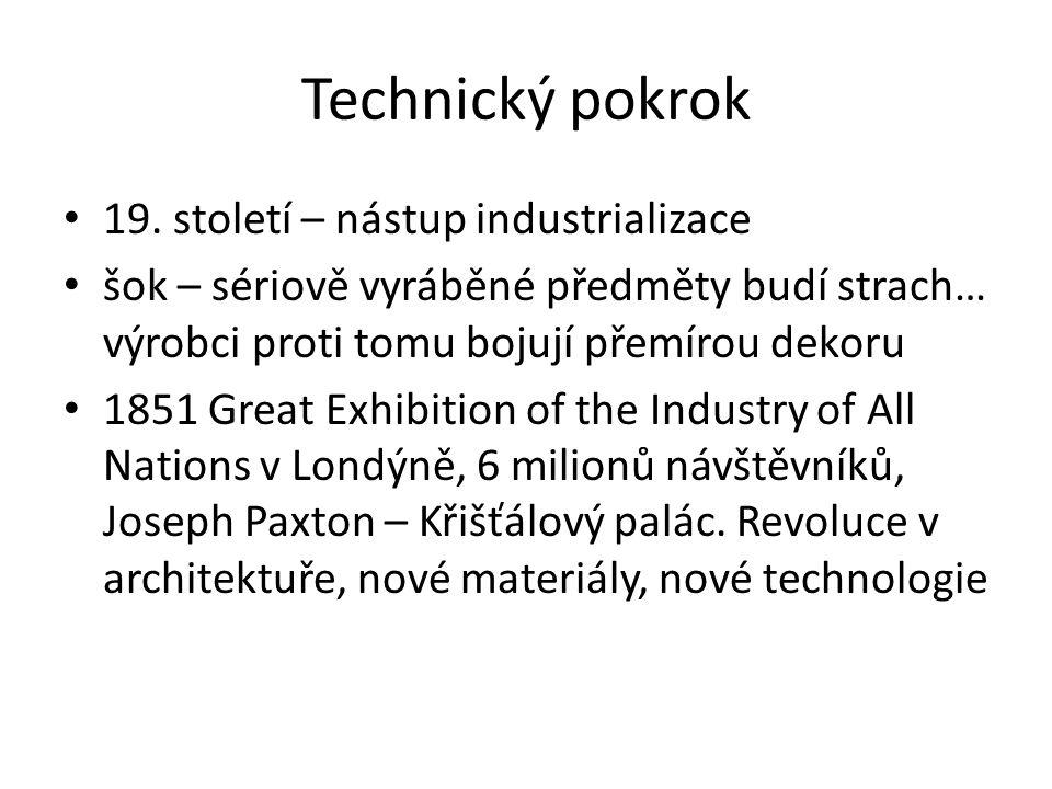 Technický pokrok 19. století – nástup industrializace