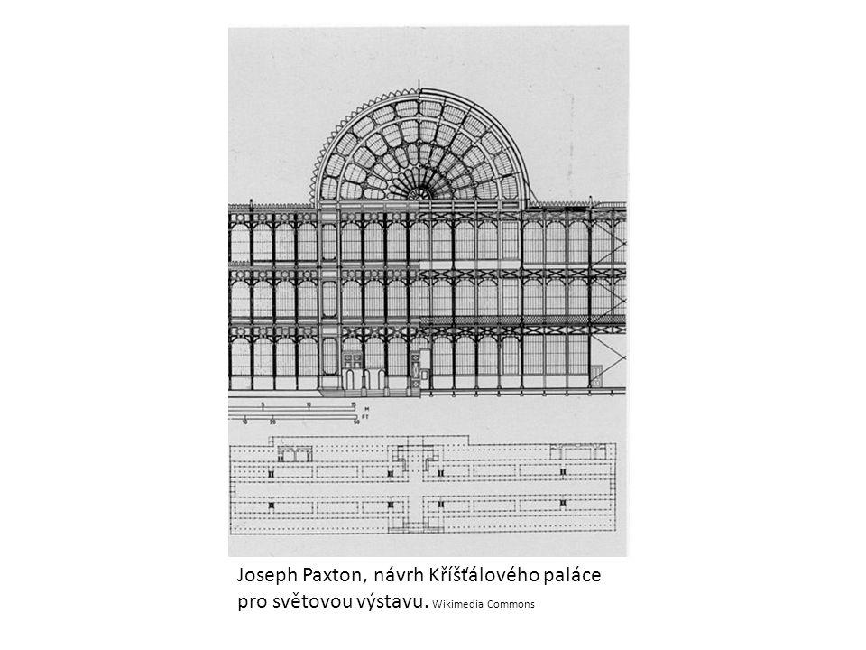 Joseph Paxton, návrh Kříšťálového paláce pro světovou výstavu