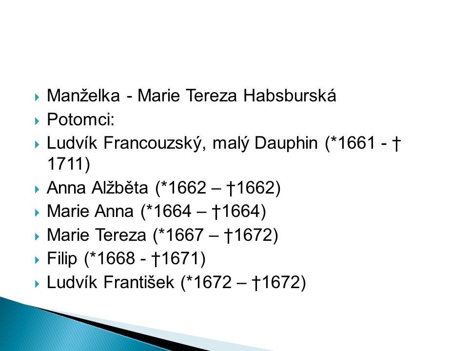 Manželka - Marie Tereza Habsburská
