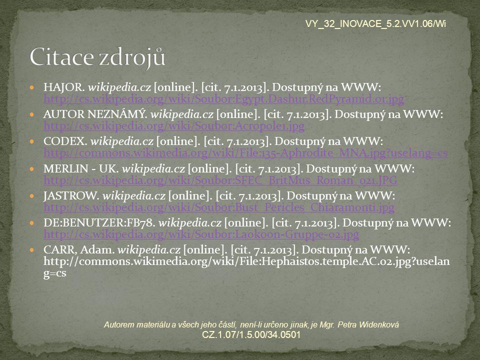 VY_32_INOVACE_5.2.VV1.06/Wi Citace zdrojů.