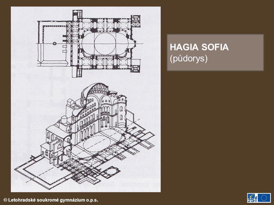 HAGIA SOFIA (půdorys)