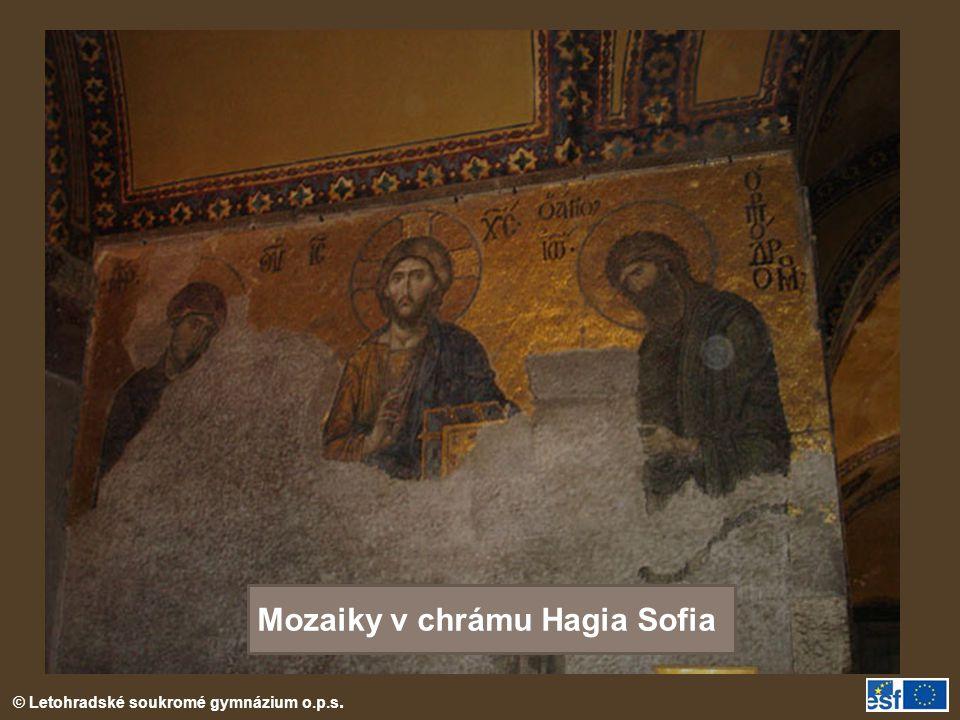 Mozaiky v chrámu Hagia Sofia
