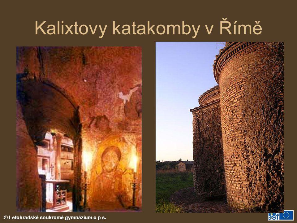 Kalixtovy katakomby v Římě