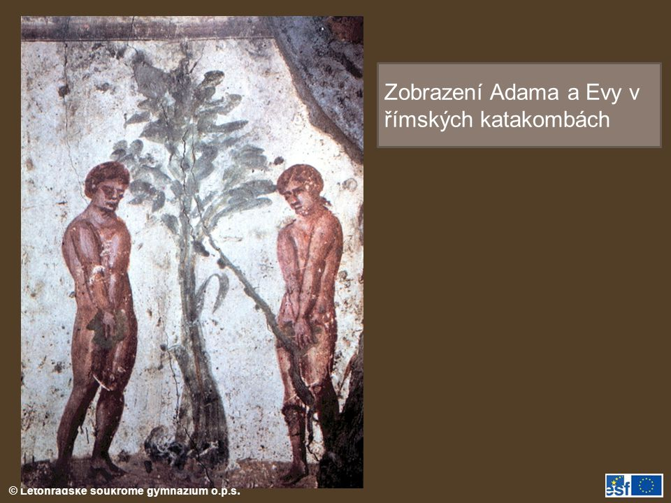 Zobrazení Adama a Evy v římských katakombách