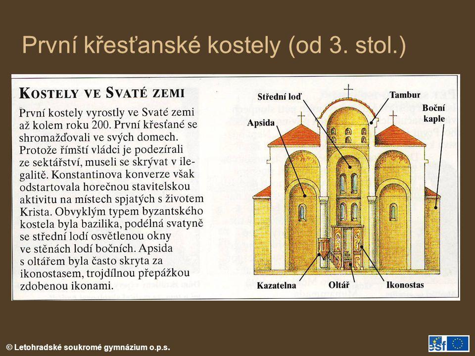 První křesťanské kostely (od 3. stol.)