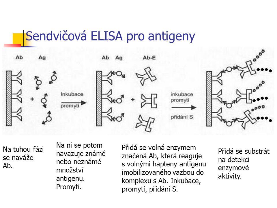 Sendvičová ELISA pro antigeny