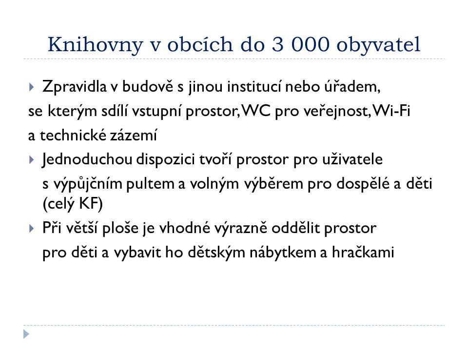 Knihovny v obcích do 3 000 obyvatel