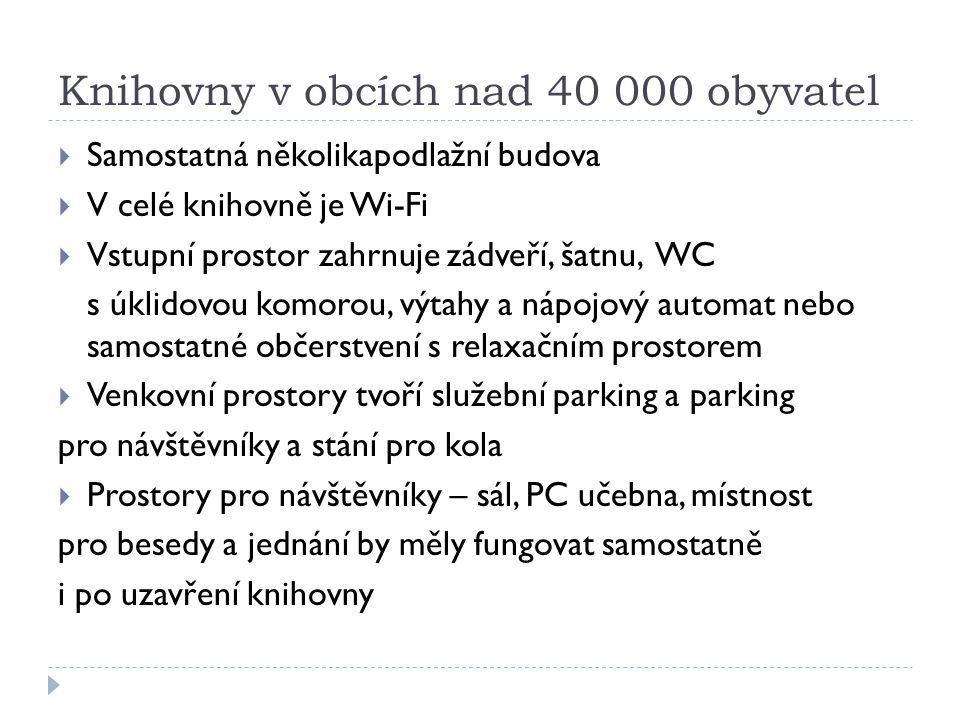 Knihovny v obcích nad 40 000 obyvatel