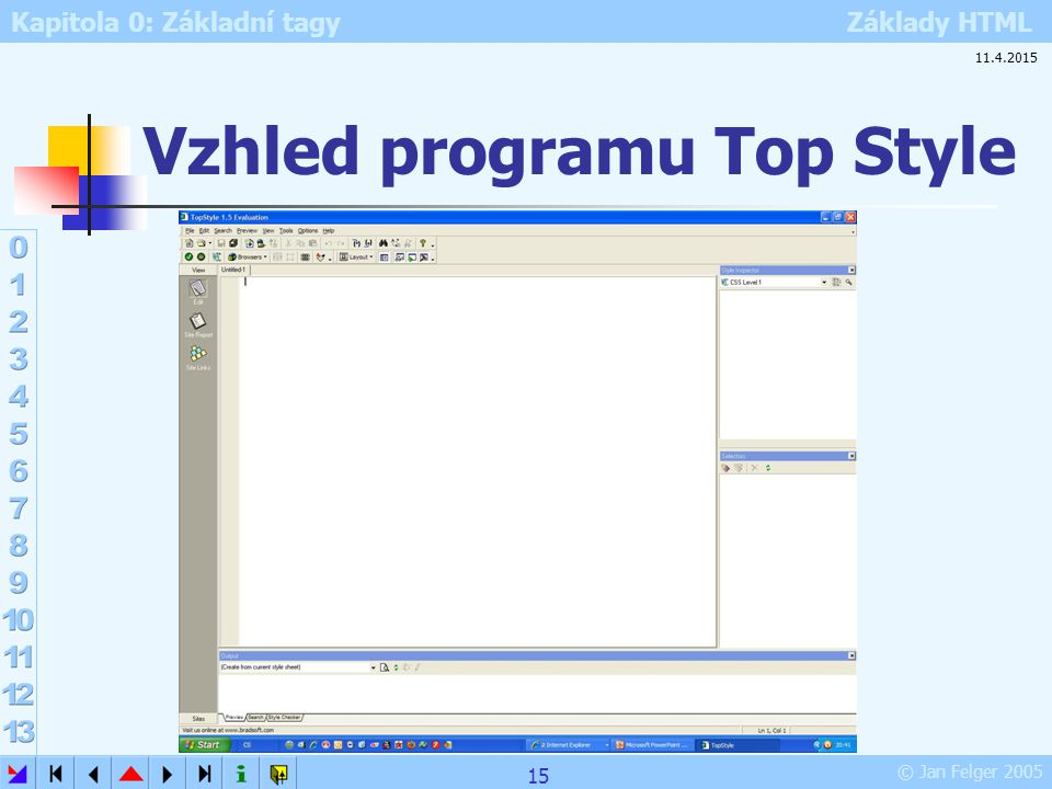 Vzhled programu Top Style