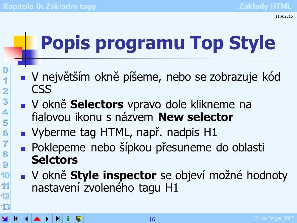 Popis programu Top Style