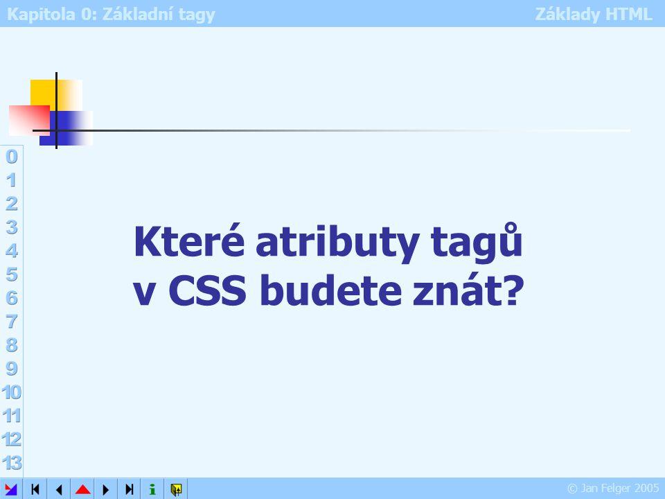 Které atributy tagů v CSS budete znát
