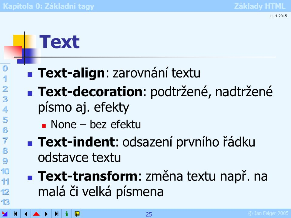 Text Text-align: zarovnání textu