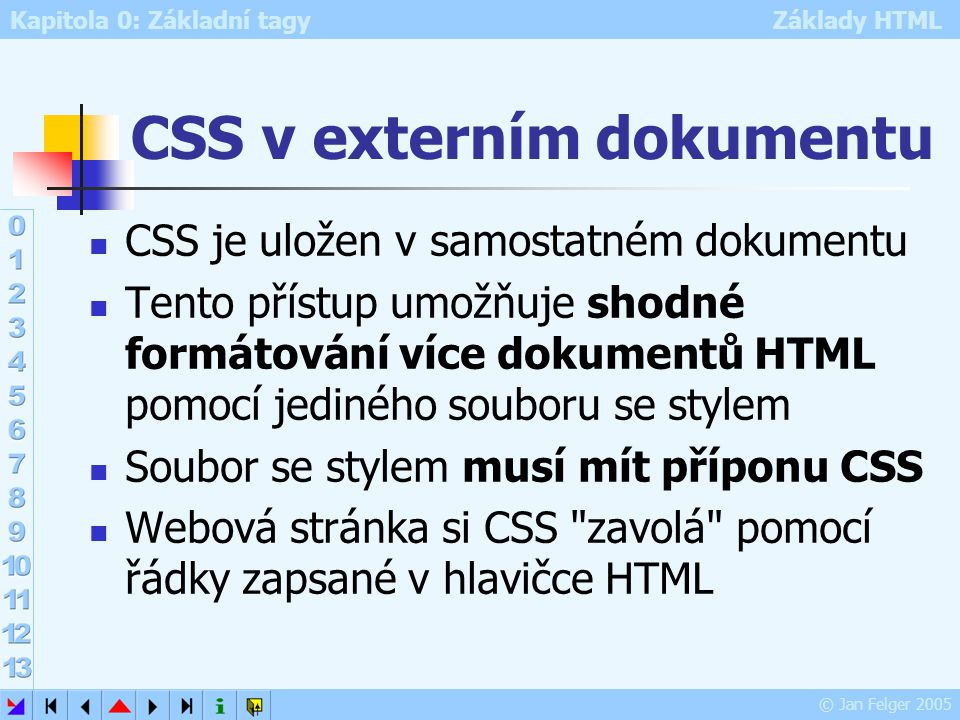 CSS v externím dokumentu