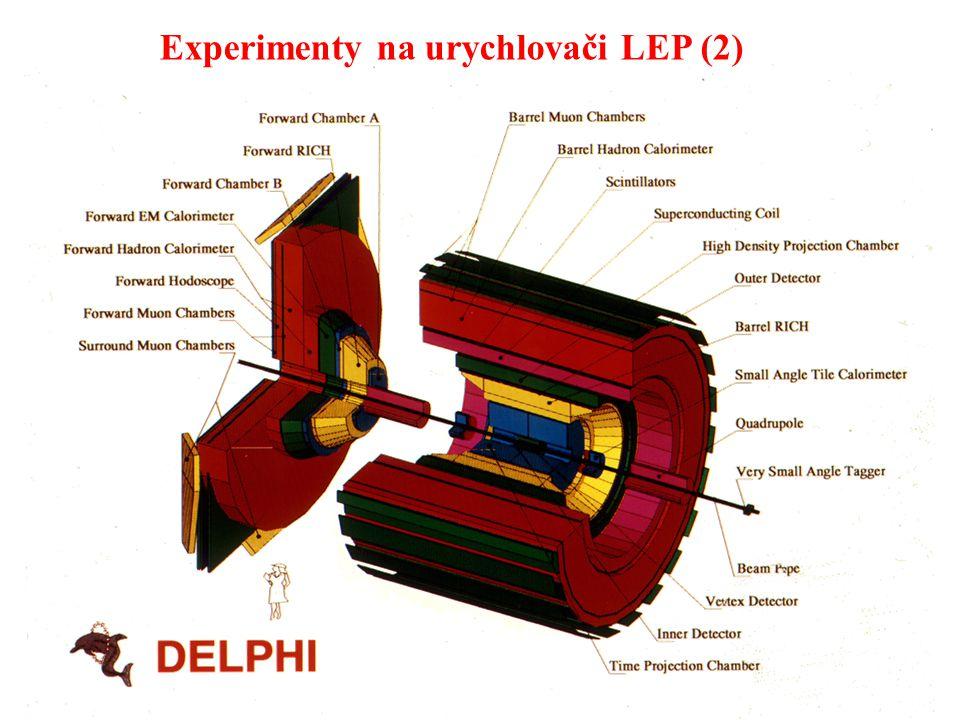Experimenty na urychlovači LEP (2)