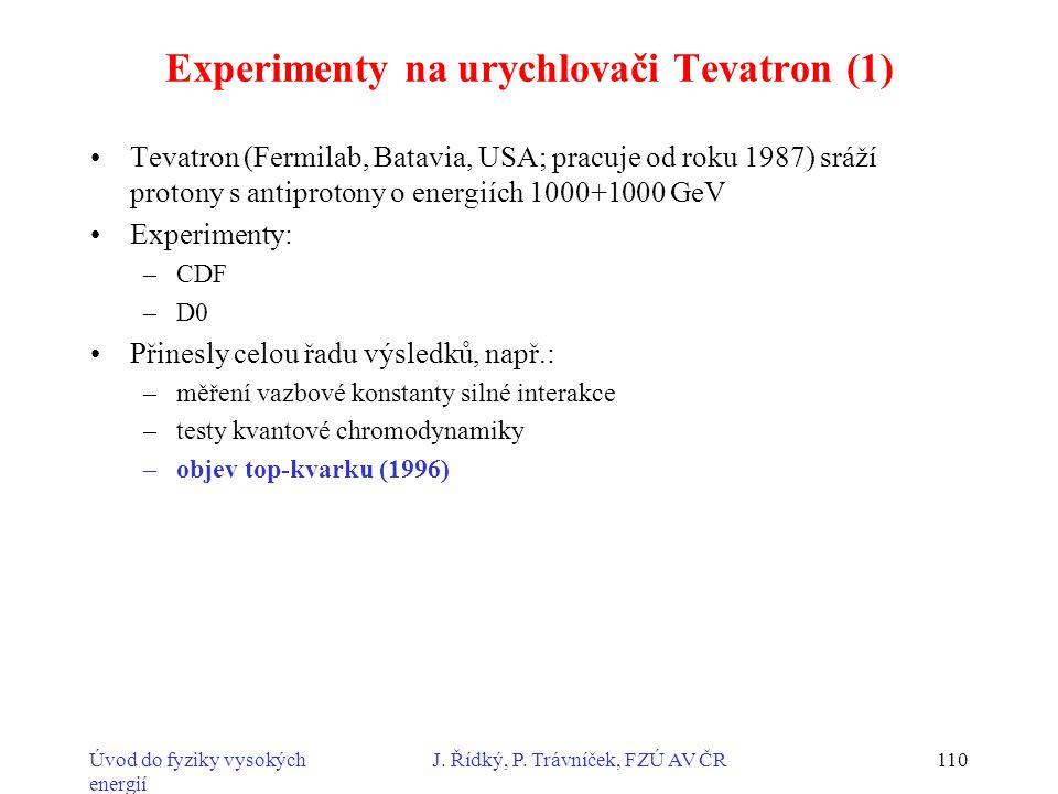 Experimenty na urychlovači Tevatron (1)