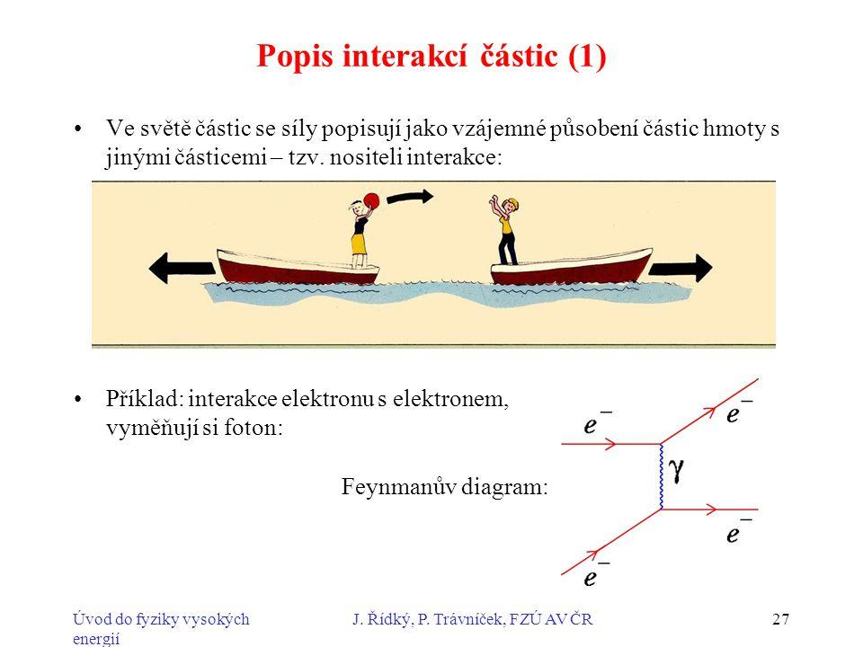 Popis interakcí částic (1)