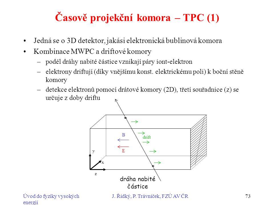 Časově projekční komora – TPC (1)