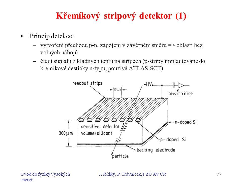 Křemíkový stripový detektor (1)
