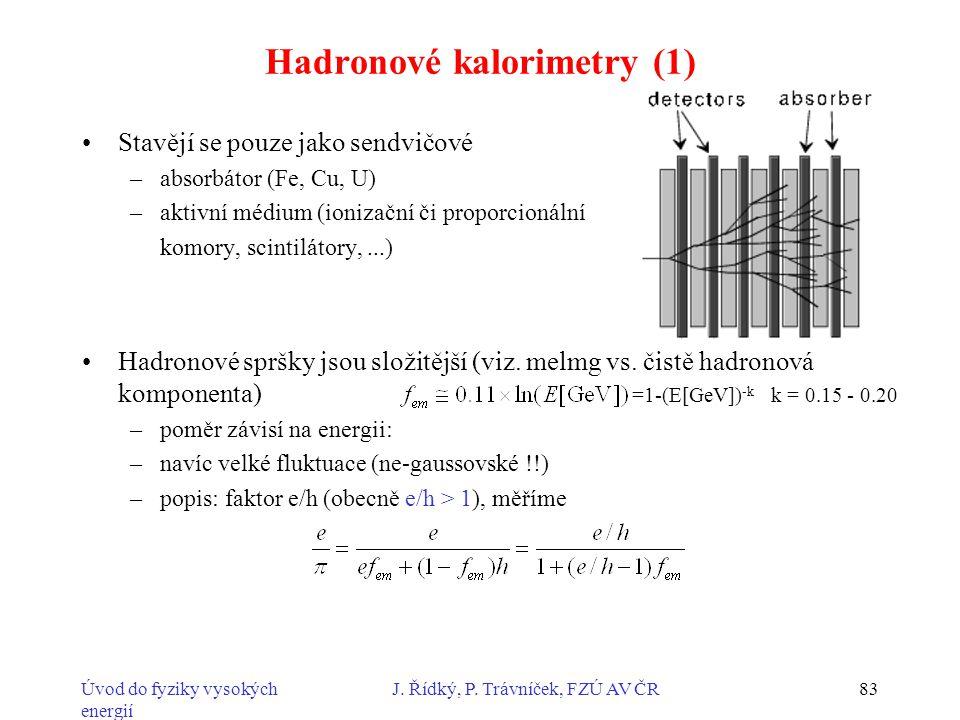Hadronové kalorimetry (1)