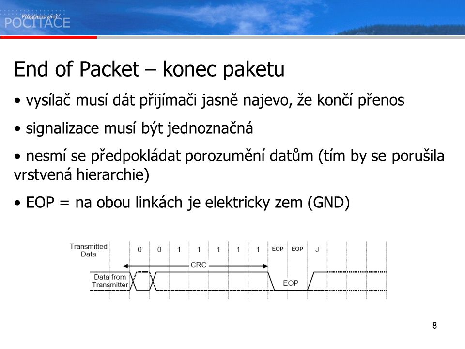 End of Packet – konec paketu