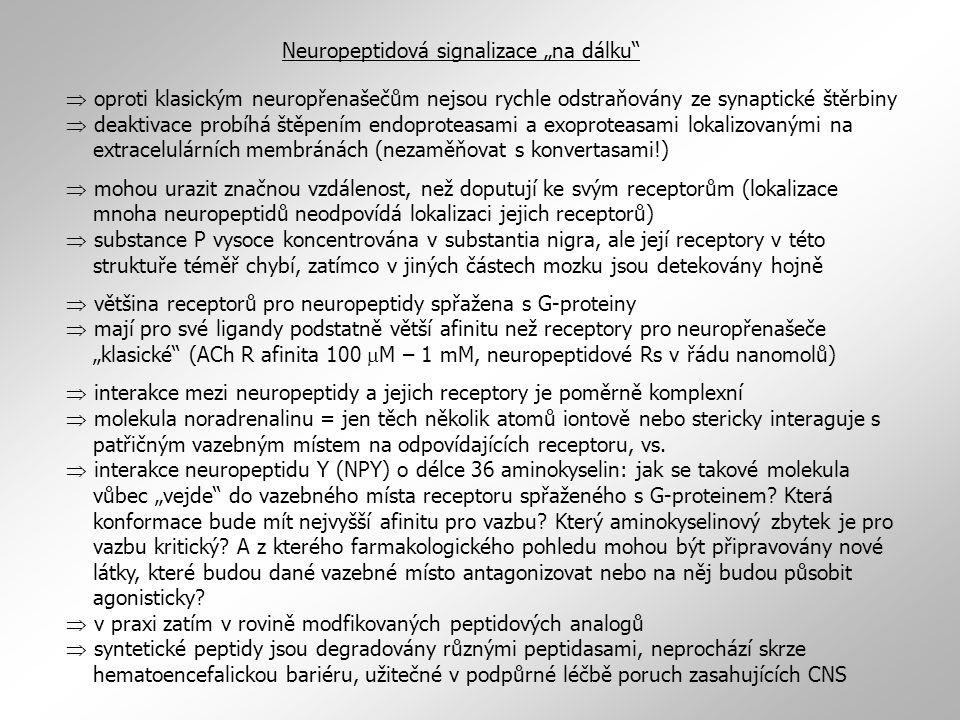 """Neuropeptidová signalizace """"na dálku"""