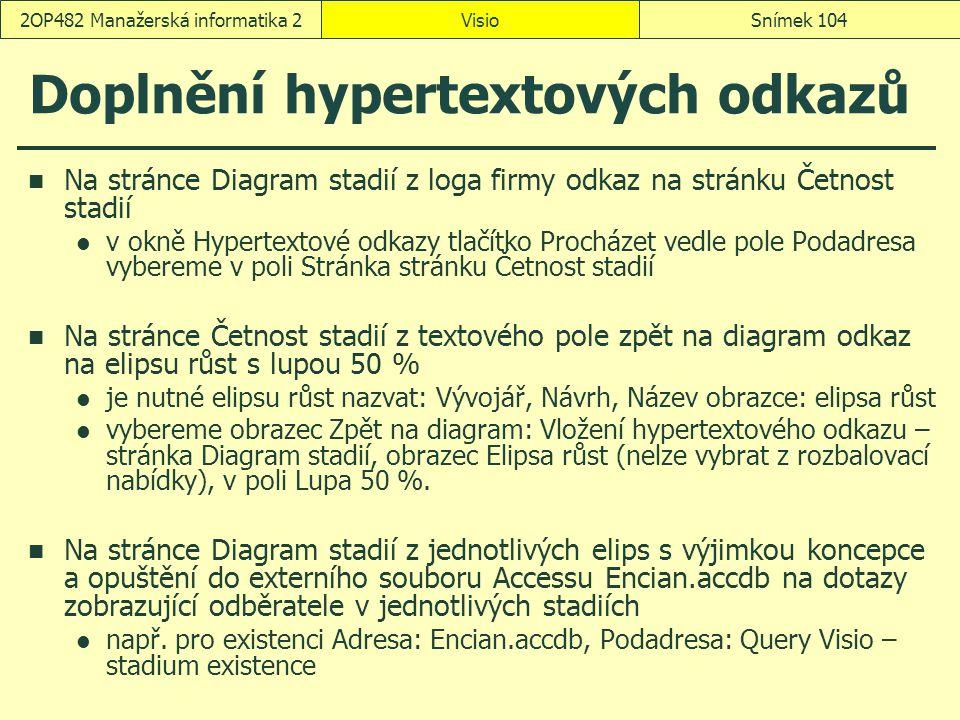 Doplnění hypertextových odkazů